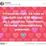 2020-11-03-Elisabeth-Tanner,-Erfolg-Verkauf